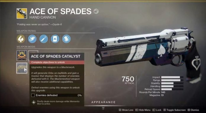 Ace of Spades Catalyst