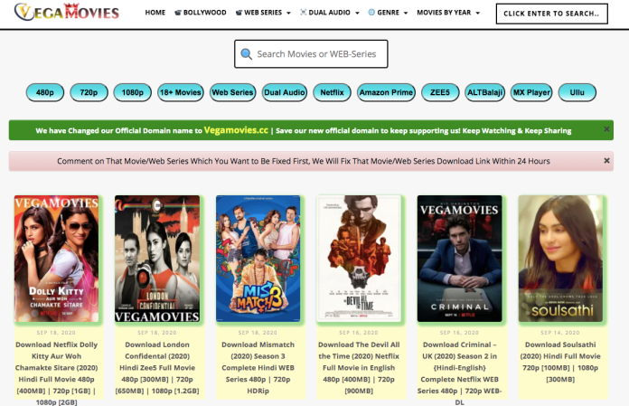 Vegamovies 2021- Download All Movies In HD