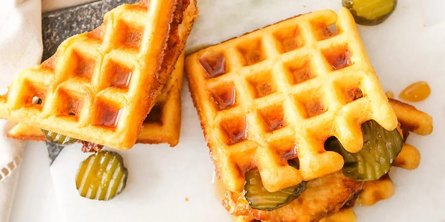 Keto Chicken and Waffle Sandwiches