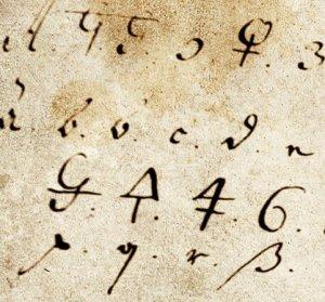 3.Brevchiffer brugt af den svenske feltmarskalk Magnus Stenbock, der i 1717 døde som krigsfange på Kastellet. (Rigsarkivet.)