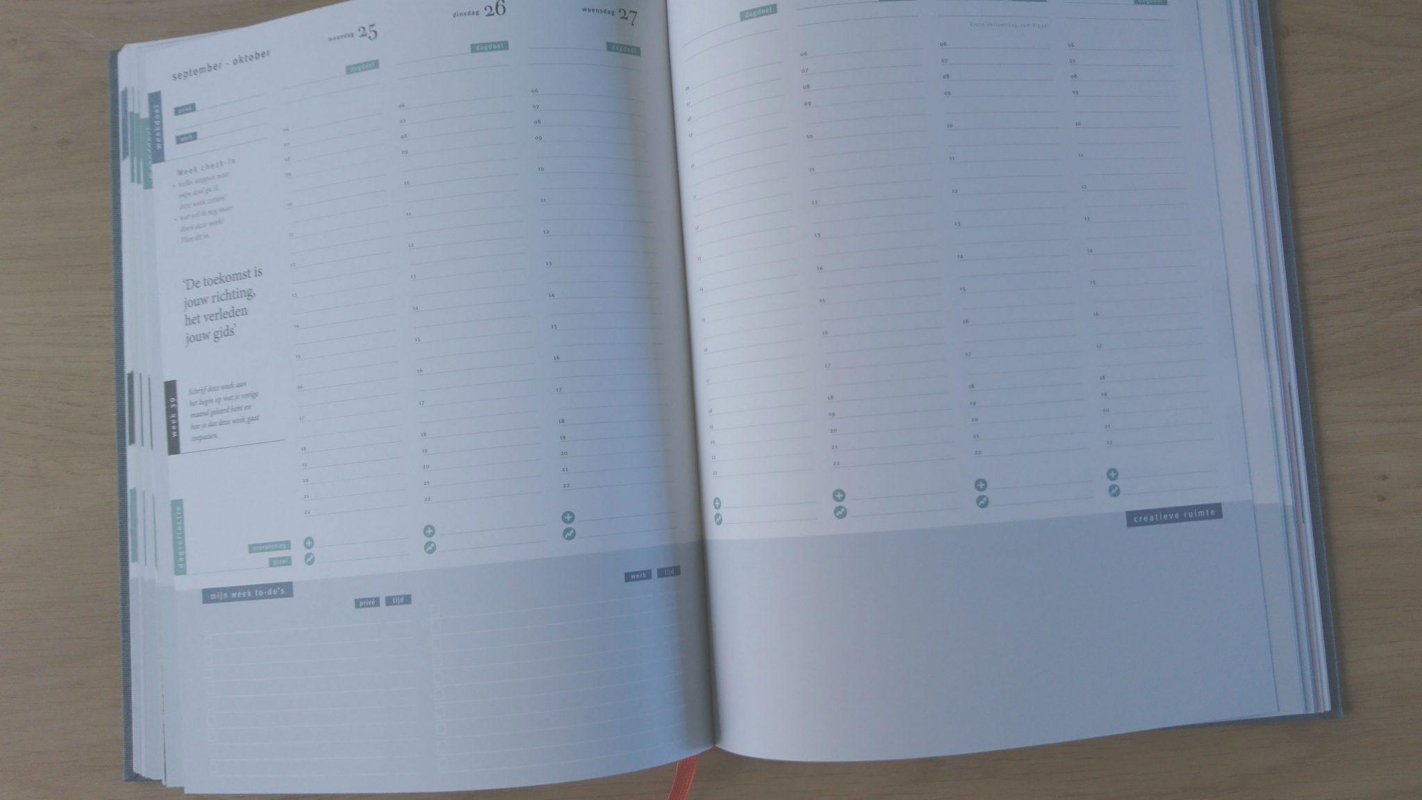 De weekplanning