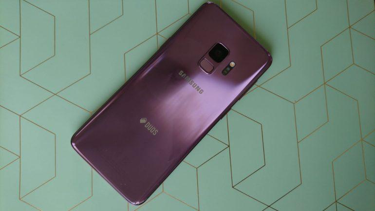 Achterkant van de Samsung Galaxy S9