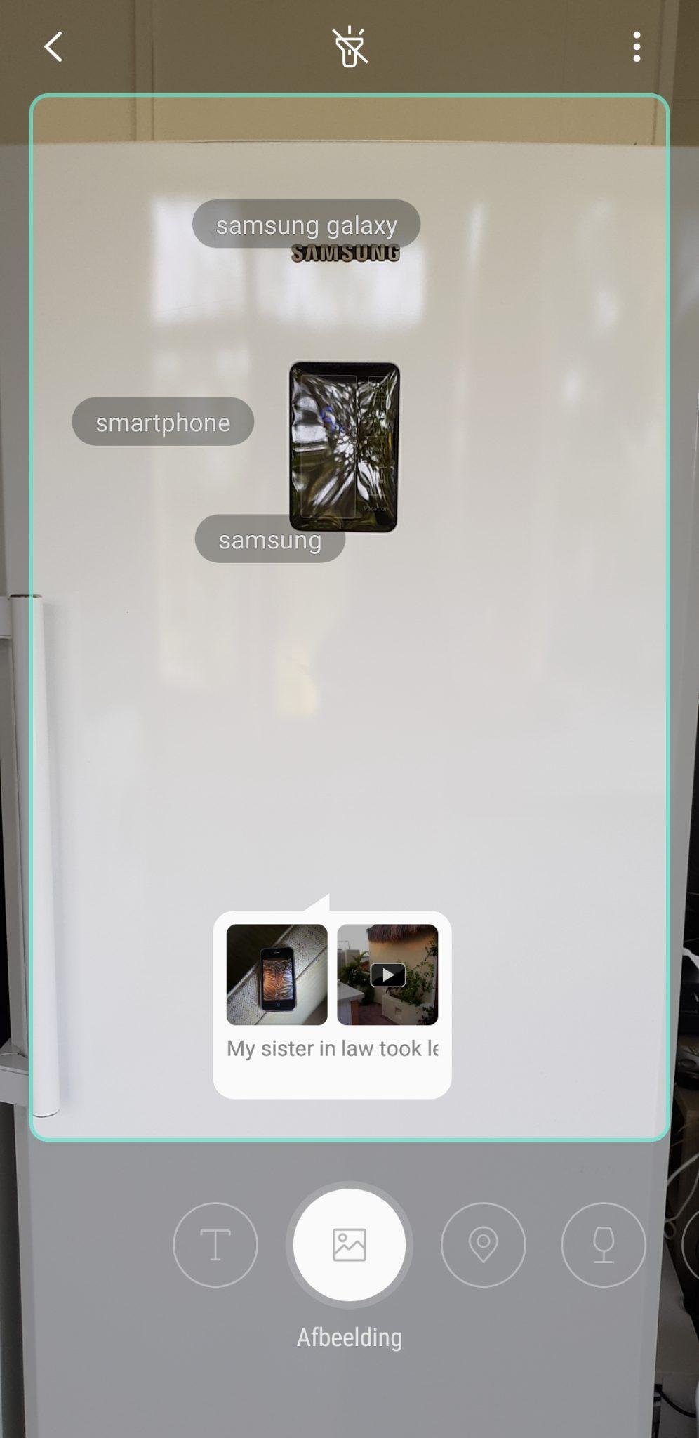 Informatie opzoeken met Bixby Vision: Een koelkast is geen Smartphone, Bixby!