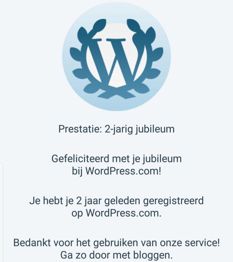 Al 2 jaar geregistreerd bij Jetpack en WordPress.com!