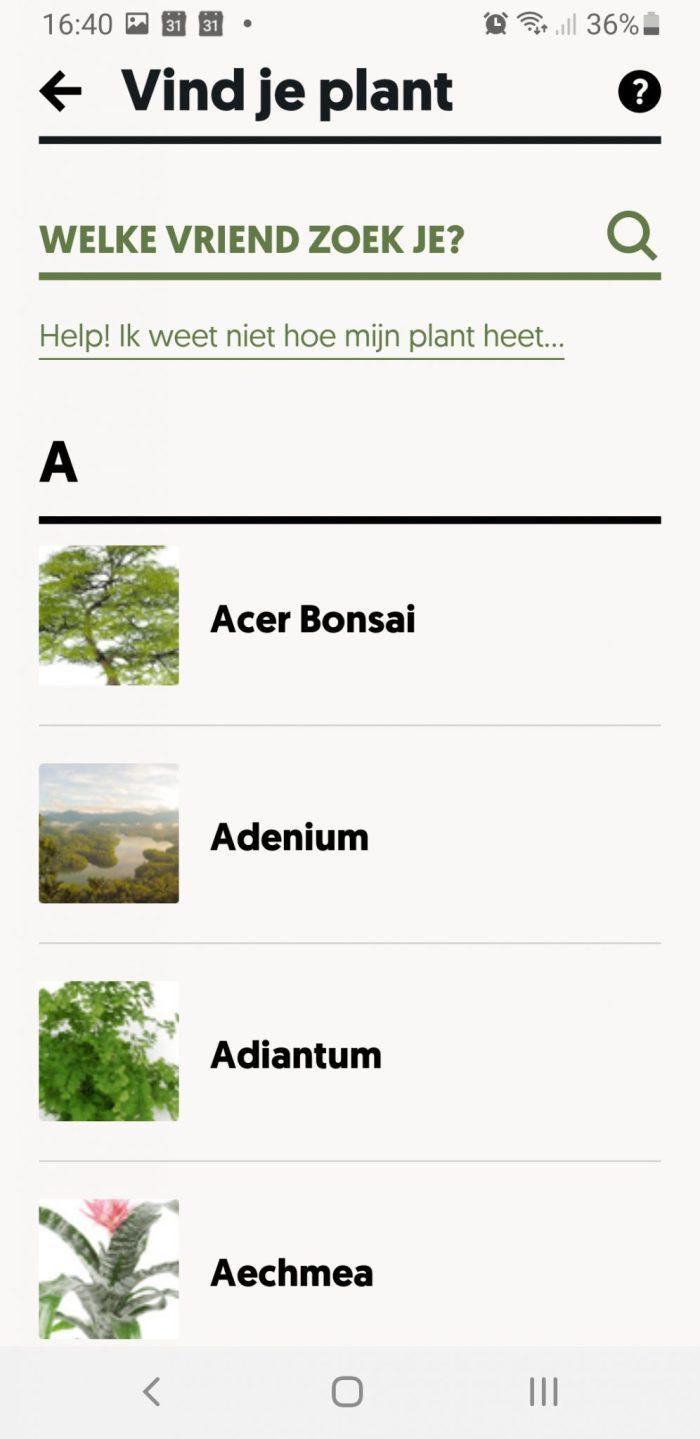 planten zoeken