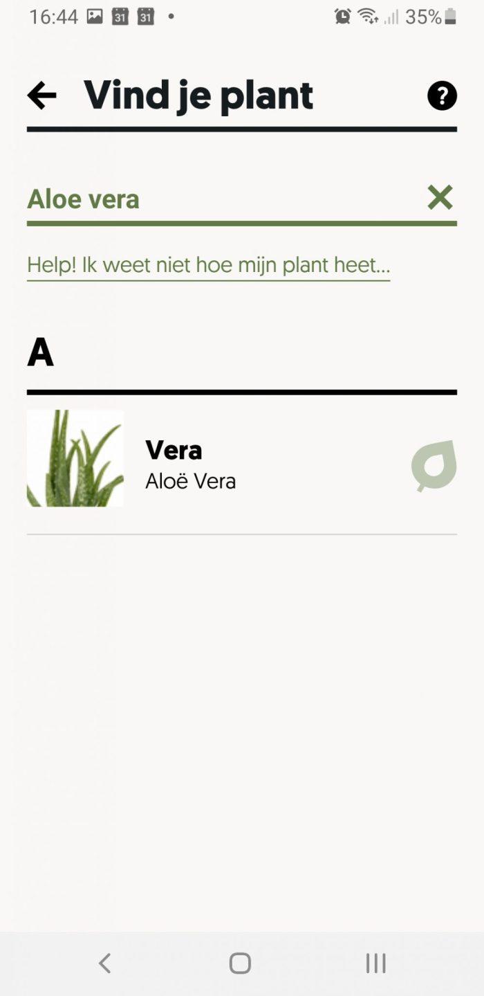 Plant selecteren