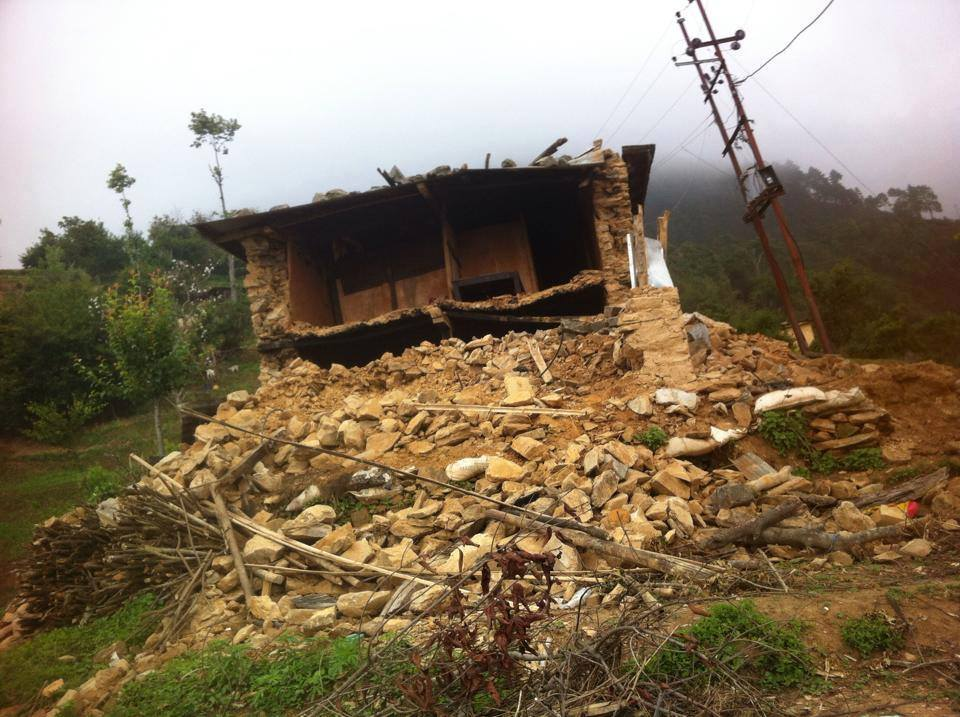 verwoest huis