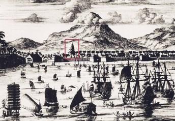 Pelabuhan Japara tahun 1600 yang terlihat masjid agung Japara