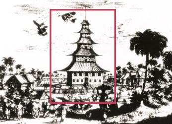 Pelabuhan Japara tahun 1600 yang terlihat masjid kuno agung Japara