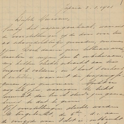 Surat Kartini tahun 1902 tentang seni japara yang dikoleksi Rumah Kartini Jepara Indonesia