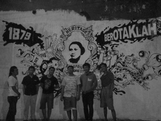kegiatan Seni mural Rumah Kartini Japara
