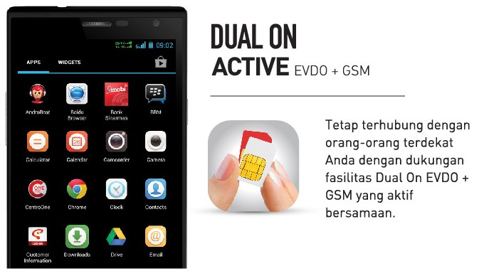 Dual On Active - Andromax i3s