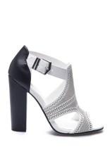 Sepatu Wanita LZD Laser-Cut Chunky Heels