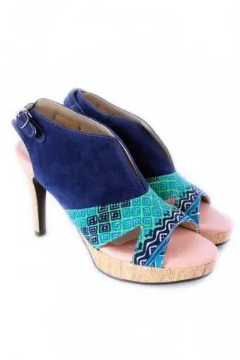 Sepatu Heels Sigourney Blue Bentenan Aqua Easter Egg