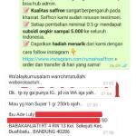 Pengiriman Saffron Premium Super Negin Ibu Ade Kota Bandung Prov. Jawa Barat