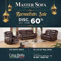 Ramadhan Sale ! . . Special Discount for our Special Product ,Master Sofa.  Disc. 60% All Item . . CASA BELLA FURNITURE @casabellafurniture.id . . Promo hanya berlaku 3 HARI dari tgl 25 Mei - 27 Mei Open hour : 10 AM - 08 PM . . Kunjungi showroom kami di : CASA BELLA Jln. Zainul Arifin No 122 ( Sebelah Gedung DBS ) ☎ ( 061 ) 4553123 / 42001522