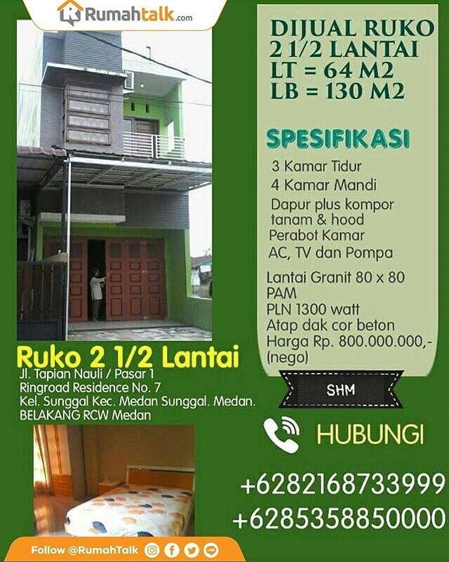 Desain Ruang Tamu Untuk Ruko  dijual ruko harga murah include perabot 2 1 2 lantai type 64