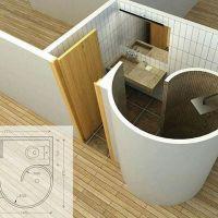 Design Kamar mandi kecil tapi unik berfungsi baik