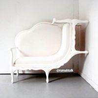 Sofa kursi unik Yang mana atas yang mana bawah? Yang pastinya ini sofa unik