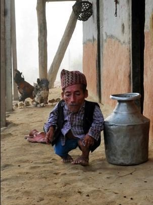 Shortest Man; Bahadur Dangi