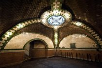 Old City Hall Subway Station - New York, New York. No longer in use.