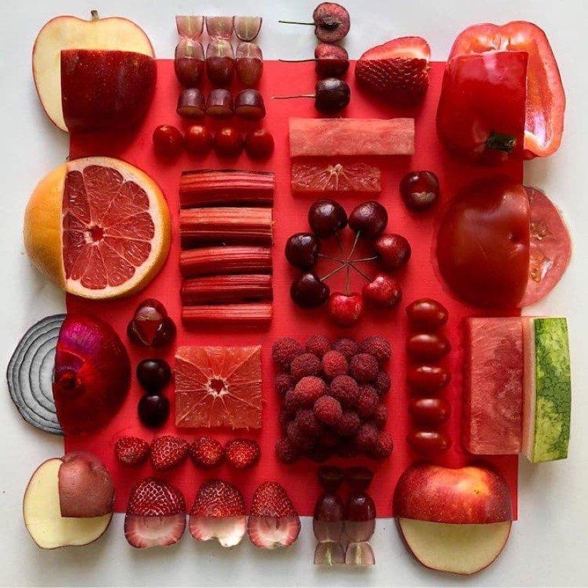 Adam Hillman creates soothing arrangements with perishable items