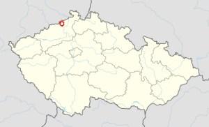 Ubicaciñon de Most en República Checa