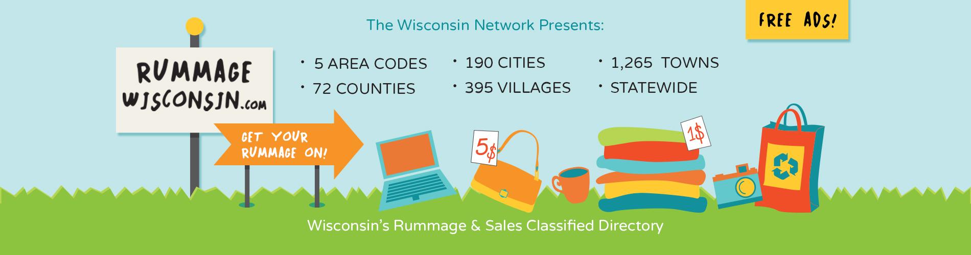 Rummage Wisconsin com, Free Rummage Sale Classified Ads, Rummage