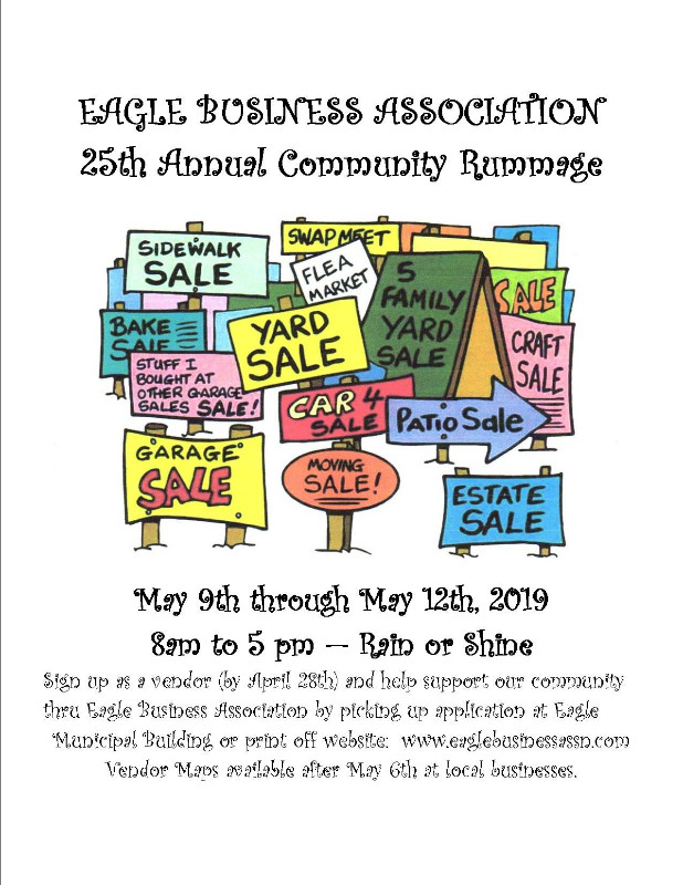 25th Annual Eagle Business Assocation Community Rummage