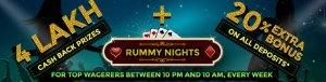 classic rummy nights promotion cashback