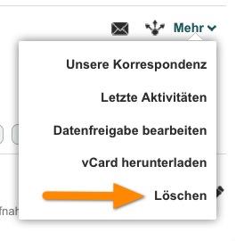 So können Sie auf XING einen bestätigten Kontakt löschen