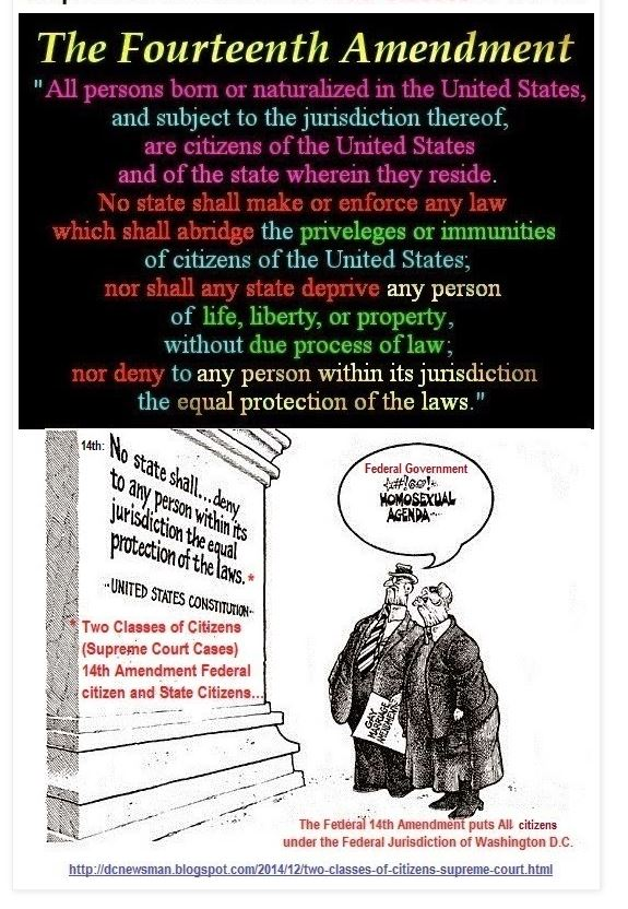 Two Classes of Citizens Supreme Court Cases 14th