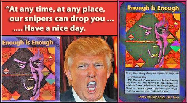 Illuminati card game about Assange Trump  Clintons