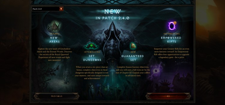 Patch 2.4.0 Set Dungeons
