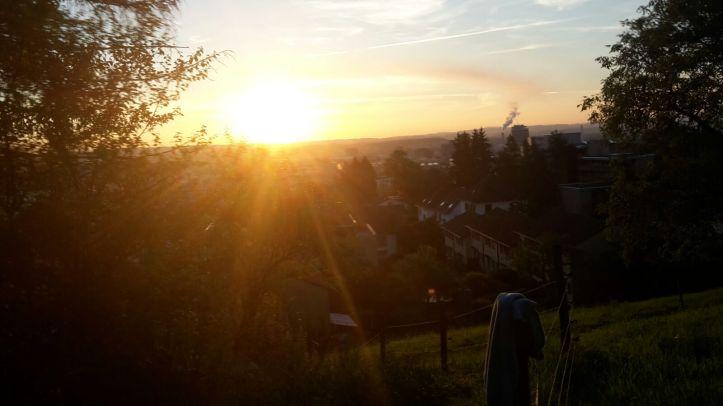 Heuen bei Sonnenaufgang