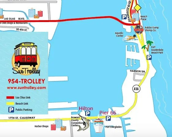 Sun Trolley Route Map