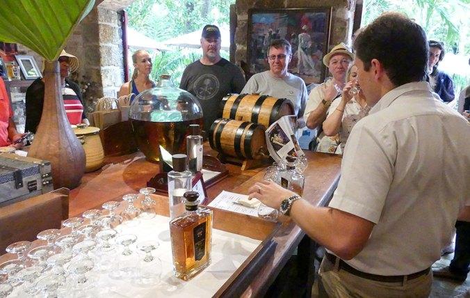 Caribbean Rum Cruise - Rum Cruisers enjoy the tasting room at St. Nicholas Abbey