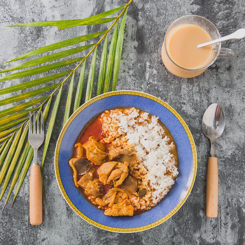 蘭姆酒吐司好食市集懶得煮即煮包-南洋叻沙咖哩雞即煮包