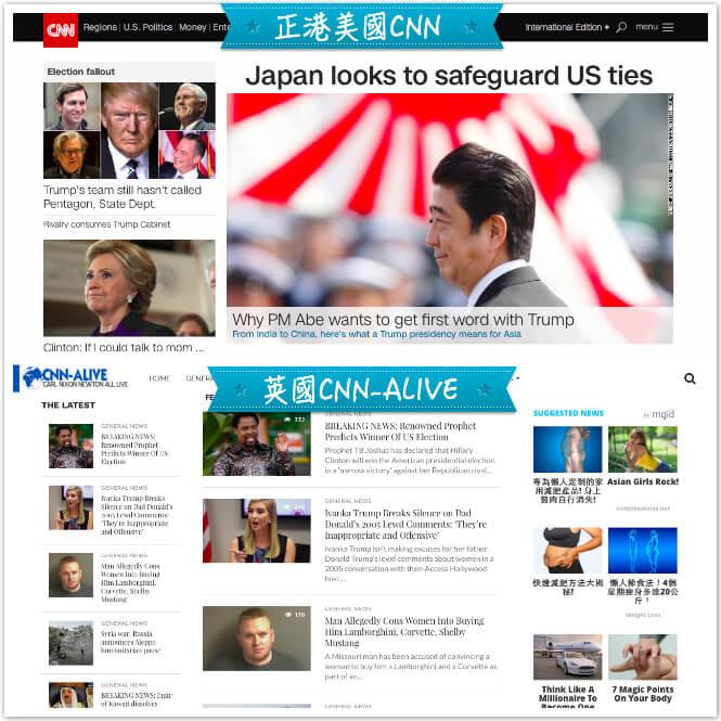 美國CNN和英國CNN-ALIVE