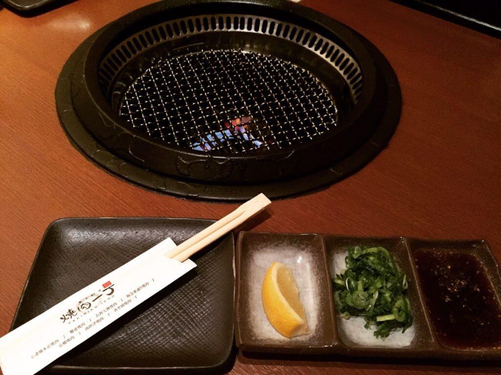 心齋橋燒肉一丁沾醬盤。(圖/吐司客拍攝)