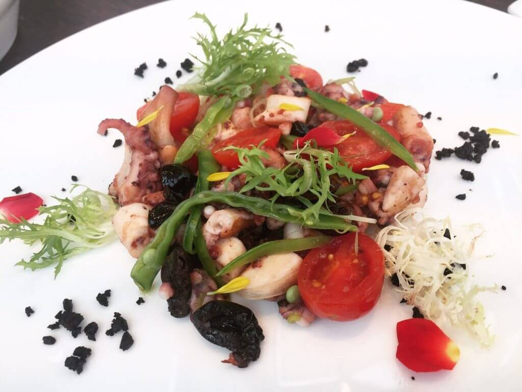 IL MERCARO地中海章魚沙拉。(圖/吐司客拍攝)