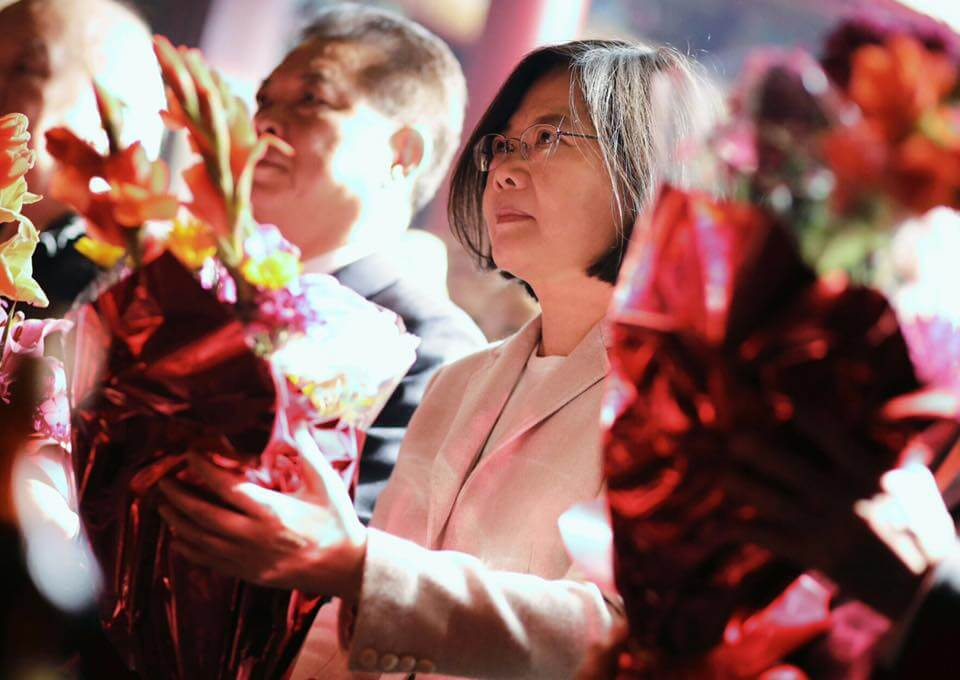 總統蔡英文(圖片來源:Tsai Ing-wen臉書)