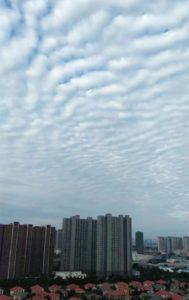 號稱是四川九寨溝地震雲的網路圖片