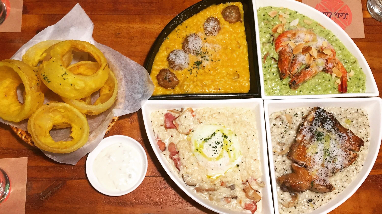 吐司客/一起來 吃義燉飯 吧!南瓜,松露,青醬大蝦口味拼出彩色圓盤