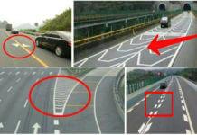 10月1日起,如果不認識這4種標線最好不要開車上高速?先講清楚這哪一國的標線吧!(圖/翻設自網路)