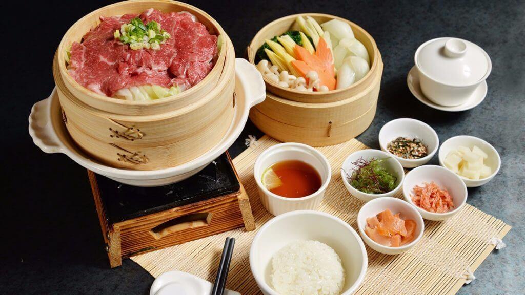 晶英軒「清蒸和牛蔬菜泡飯」。(台南晶英酒店提供)