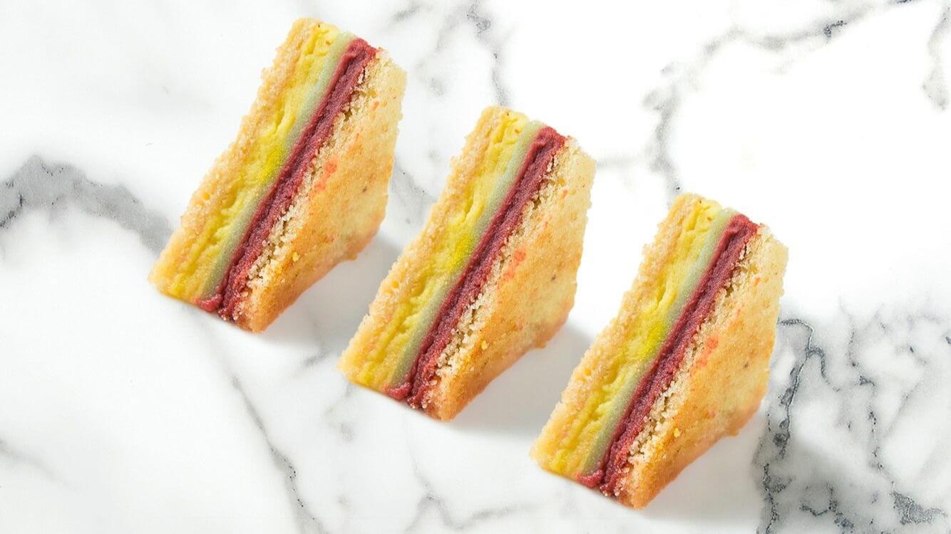 奇異芒果三明治,清爽價每顆110元。 (圖/台南晶英酒店提供)
