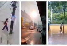 下大雨 千萬別靠近電線桿 、變電箱,能救你一命?中國傳來的影片,台灣適用嗎?