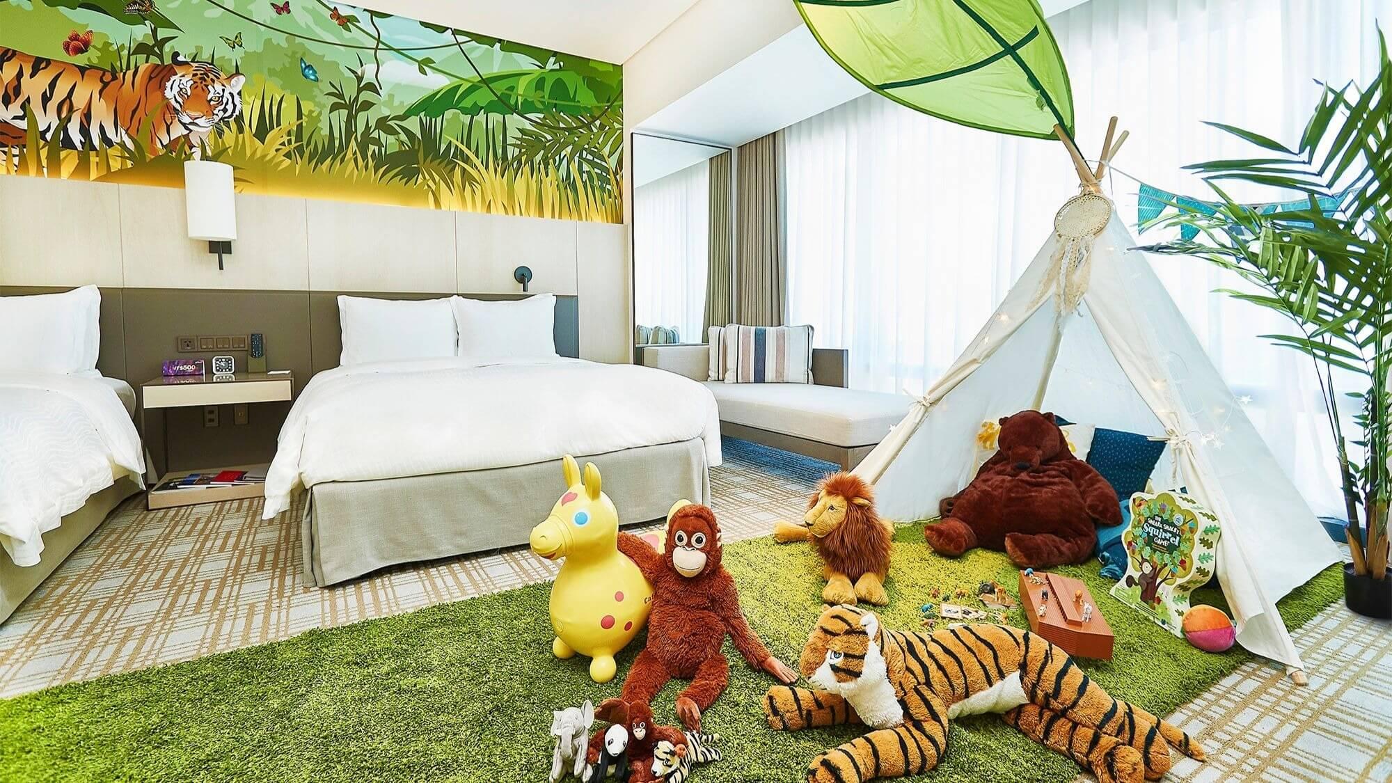 台北萬豪酒店「叢林探險趣」住房專案。(圖/台北萬豪酒店提供)