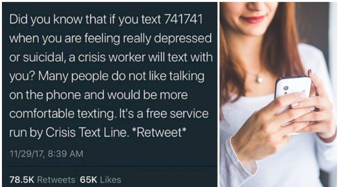 網傳情緒低落可以 傳簡訊給「741741」 ?這只適用於美國,台灣無法使用喔!